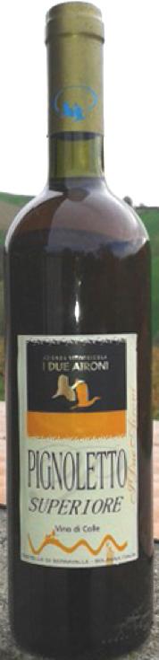 Pignoletto Superiore  COLLI BOLOGNESI DOCG vino di colle